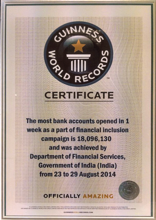 pradhan mantri jan dhan yojana department of financial services